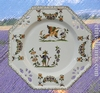 OCTAGONAL PLATE LARGE MODEL OLD MOUSTIERS TRADITION DECOR
