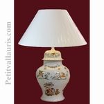 LAMPE FAIENCE MODELE CHINOIS DECOR TRADITION VIEUX MOUSTIERS