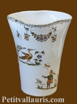 VASE GLAIEUL OLD MOUSTIERS DECORATION SMALL SIZE