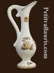 SMALL SIZE EWER OLD MOUSTIERS TRADITION DECORATION