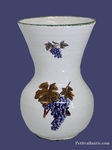 VASE FAIENCE MODELE NADINE TAILLE 2 DECOR GRAPPE DE RAISIN