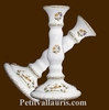 FAIENCE CANDLESTICK OLD MOUSTIER TRADITION DECORATION