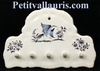 SUPPORT FAIENCE KEY OLD MOUSTIERS BLUE DECORATION