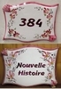 HOUSE PLAQUE PARCHMENT PINK FLOWERS