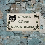 HOUSE PLAQUE MODEL 10 X 20 NAIF CAT PAINTING