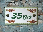 HOUSE PLAQUE RECTANGLE SMALL MODEL CHESTNUTS DECORATING