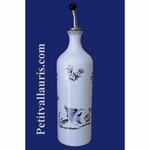 OILCAN BOTTLE BLUE  OLD MOUSTIERS TRADITION DECOR