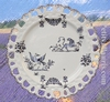 PLATE SUNFLOWER MODEL BLUE OLD MOUSTIERS DECORATION