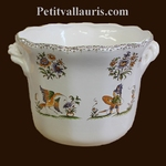 CACHE POT DROIT ANSES MOYEN MODELE DECOR TRADITION MOUSTIERS