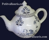 TEAPOT OLD BLUE MOUSTIERS TRADITION DECORATION