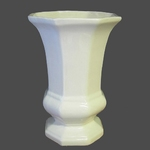 VASE FAIENCE MODELE MEDICIS EMAILLE UNI BLANC TAILLE 2