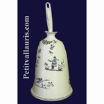 CARRY SMALL BRUSH OLD BLUE MOUSTIERS TRADITION DECORATION