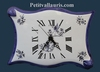 HORLOGE FAIENCE MODELE PARCHEMIN DECOR TRADITION MOUSTIERS B