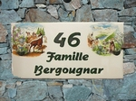 HOUSE PLAQUE RECTANGLE SMALL MODEL CHAMOIS & MARMOTTS PAINT