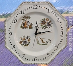 HORLOGE OCTOGONALE DECOR TRADITION VIEUX MOUSTIERS POLY