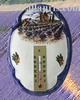 OVAL PLAQUE WITH THERMOMETER PROVENCE LANDSCAPE DECOR 2198