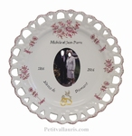 MARRIAGE PLATE SUNFLOWER MODEL WITH PHOTO INSIDE(PINK)