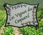 PLAQUE DE VILLA PARCHEMIN DECOR GRAPPES DE RAISIN-VIGNE