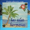 PLAQUE DE PAVILLON FAIENCE DECOR PLAGE EXOTIQUE + HIBISCUS