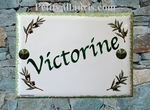 HOUSE ADDRESS PLAQUE OLIVE BRANCH DECORATION GREEN BORDER