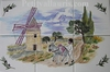 FRESQUE MURALE SUR CARRELAGE FAIENCE DECOR MEUNIER ET MOULIN