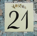 HOME NUMBER PLAQUE BLACK NUMBER ONLY 13/13 CM