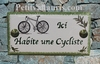 HOUSE PLAQUE MODEL 10 X 20 BICYCLE PAINTING