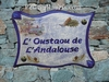 HOUSE PLAQUE PARCHMENT CREEK WITH BLUE BACKGROUND