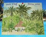 FRESQUE MURALE DECOR EXOTIQUE INSCRIPTION PERSONNALISE