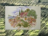 FRESQUE MURALE FAIENCE DECOR PAYSAGE CABANON,OLIVIER 45 X 30