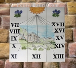 CUSTOMIZED CERAMIC SUNDIAL WALL PLAQUE MOUNTAIN DECORATION