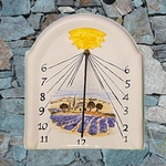 SUNDIAL FRESCO EARTHENWARE MODEL PROVENCE LANDSCAPE PAINT