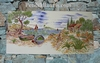 CERAMIC RECTANGULAR FRESCO PROVENCE SEASIDE PAINTING