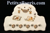 SUPPORT FAIENCE KEY OLD MOUSTIERS TRADITION DECORATION