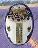 OVAL PLAQUE WITH THERMOMETER PROVENCE LANDSCAPE DECOR 2204