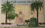 FRESQUE MURALE SUR CARRELAGE FAIENCE DECOR CLUB CARAVAN