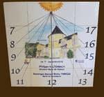 CUSTOMIZED CERAMC SUNDIAL WALL PLAQUE CLAMART CITY-HALL DECO