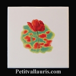 CARREAU DECOR COQUELICOT POSE HORIZONTALE