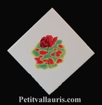 CARREAU DECOR COQUELICOT POSE VERTICALE