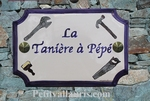 HOME CERAMIC CUSTOMIZED PLAQUE WITH SDIY TOOLS PICTURE