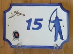 HOME CUSTOMIZED PLAQUE WITH DECOR SPORT ARCHERY PAINT