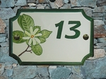 HOUSE PLAQUE STYLE SMALL MODEL WITH Tiaré flower paint