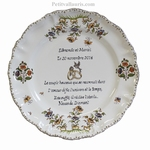 MARRIAGE STYLE PLATE MODEL WITH WEDDING DIAMOND POEM