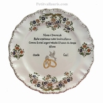 MARRIAGE STYLE PLATE MODEL WITH WEDDING EMERAUDE POEM