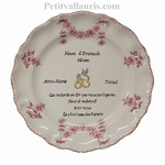 PINK COLOR MARRIAGE STYLE PLATE MODEL + POEM EMERALD WEDDING