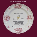 PINK COLOR MARRIAGE STYLE PLATE MODEL + POEM PEARL WEDDING