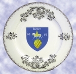PORCELAIN CUSTOMIZED PLATE WITH FAMILY EMBLEM INSIDE