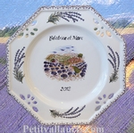 LAVANDE HARVEST PLATE DECORATIVE WITH CUSTOMIZED TEXT