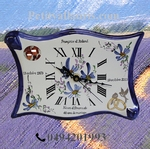 CERAMIC CLOCK PARCHMENT MODEL WITH CUSTOMIZED PHOTO INSIDE