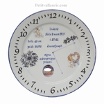 ASSIETTE PORCELAINE NAISSANCE DECOR ANGE+ PHOTO PERSO